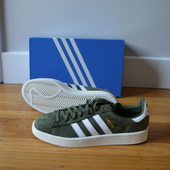 online store d76fc bf3d4 RARE Adidas Originals Suede Olive Green Sneakers